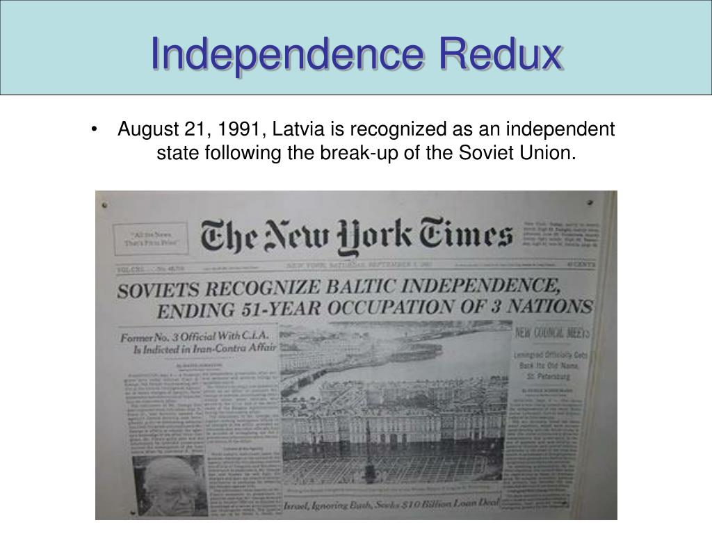 Independence Redux