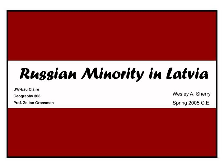 Russian minority in latvia