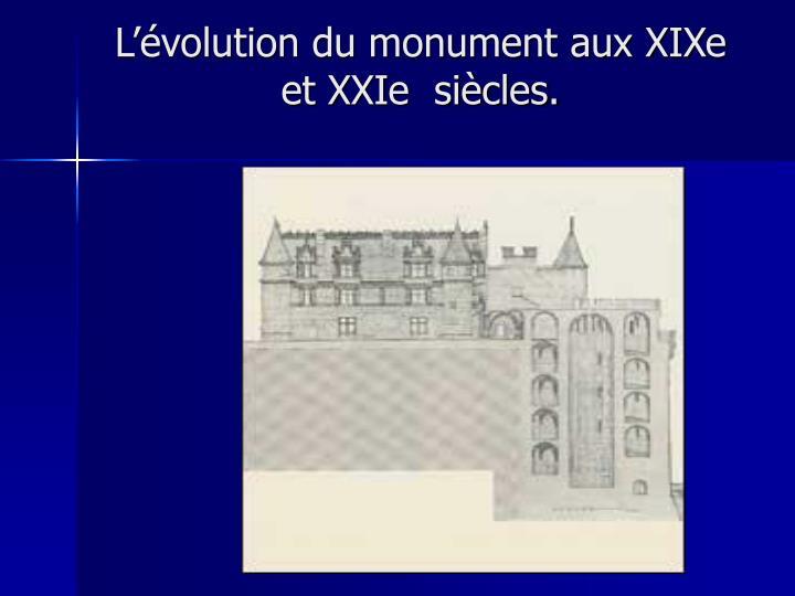 L'évolution du monument aux XIXe et XXIe  siècles.