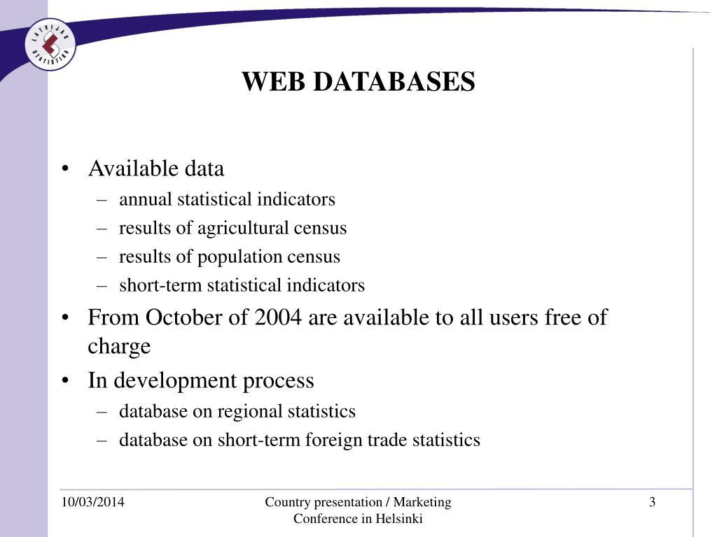 WEB DATABASES