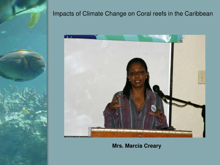 impacts of climate change on coral reefs in the caribbean n.