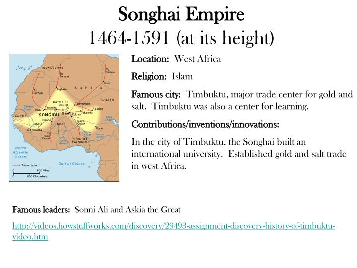Ppt songhai empire 1464 1591 at its height powerpoint location west africa toneelgroepblik Choice Image