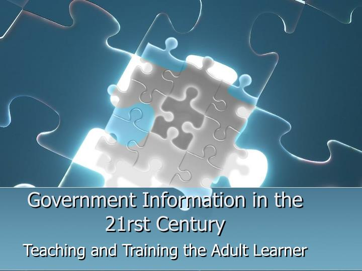 government information in the 21rst century n.