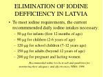 elimination of iodine defficiency in latvia