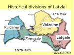 historical divisions of latvia