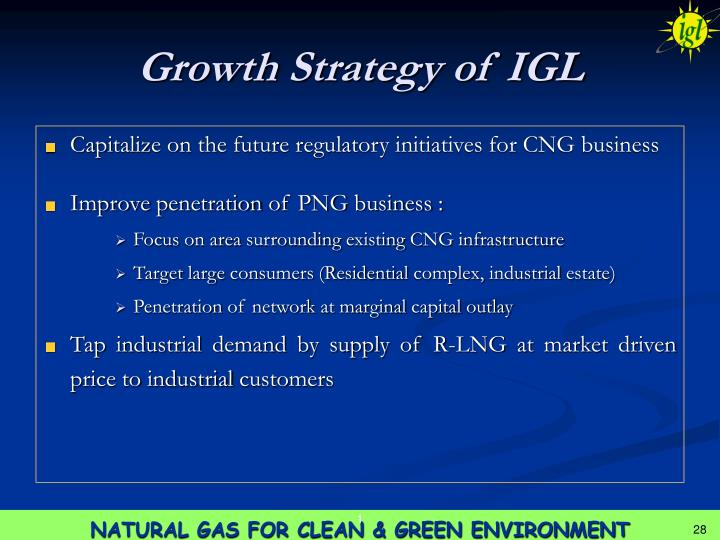 Growth Strategy of IGL