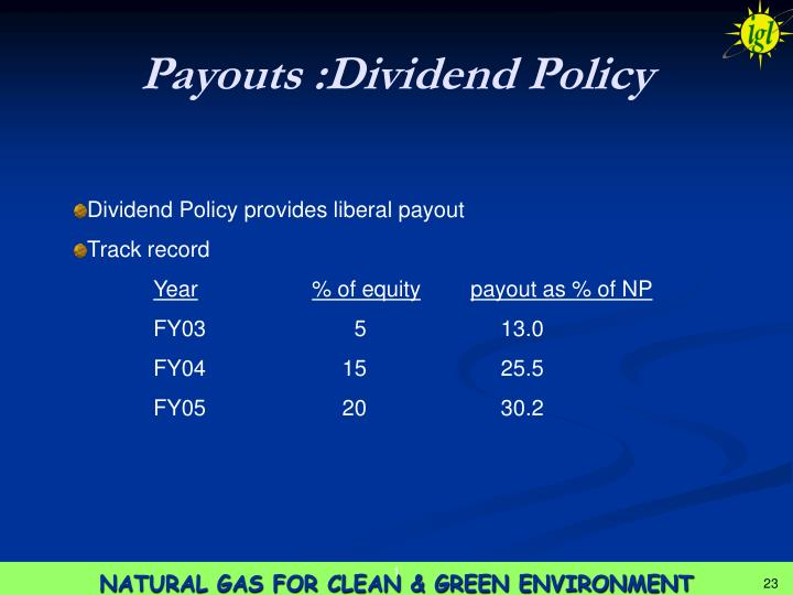 Payouts :Dividend Policy