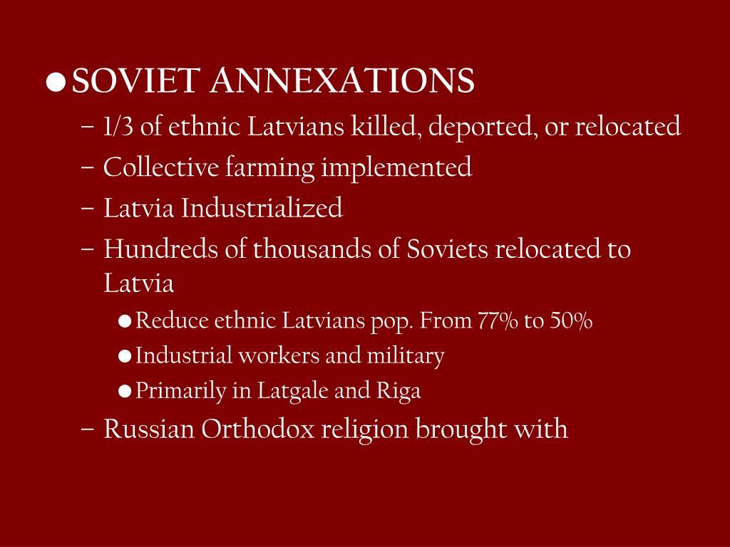 SOVIET ANNEXATIONS