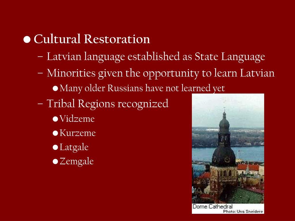 Cultural Restoration