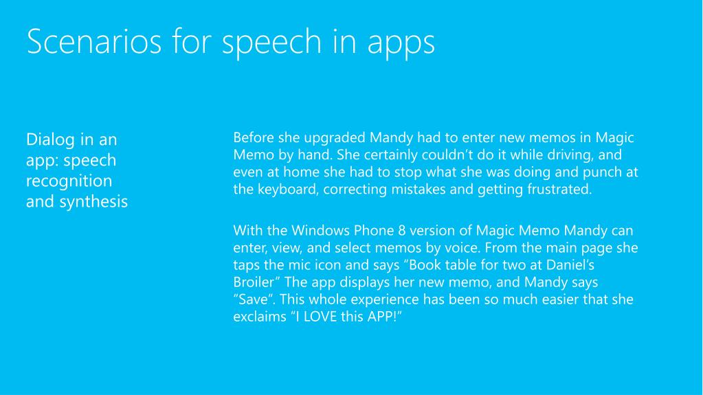 PPT - Speech enabling a pps for Windows Phone 8 PowerPoint