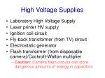 high voltage supplies