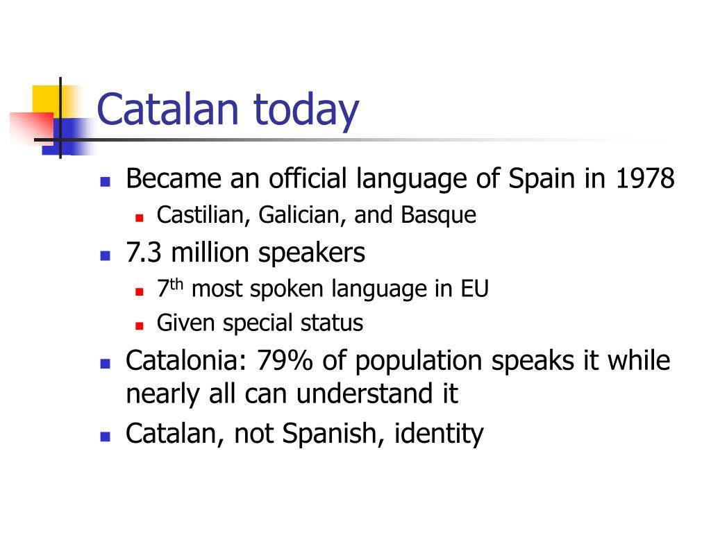 Catalan today