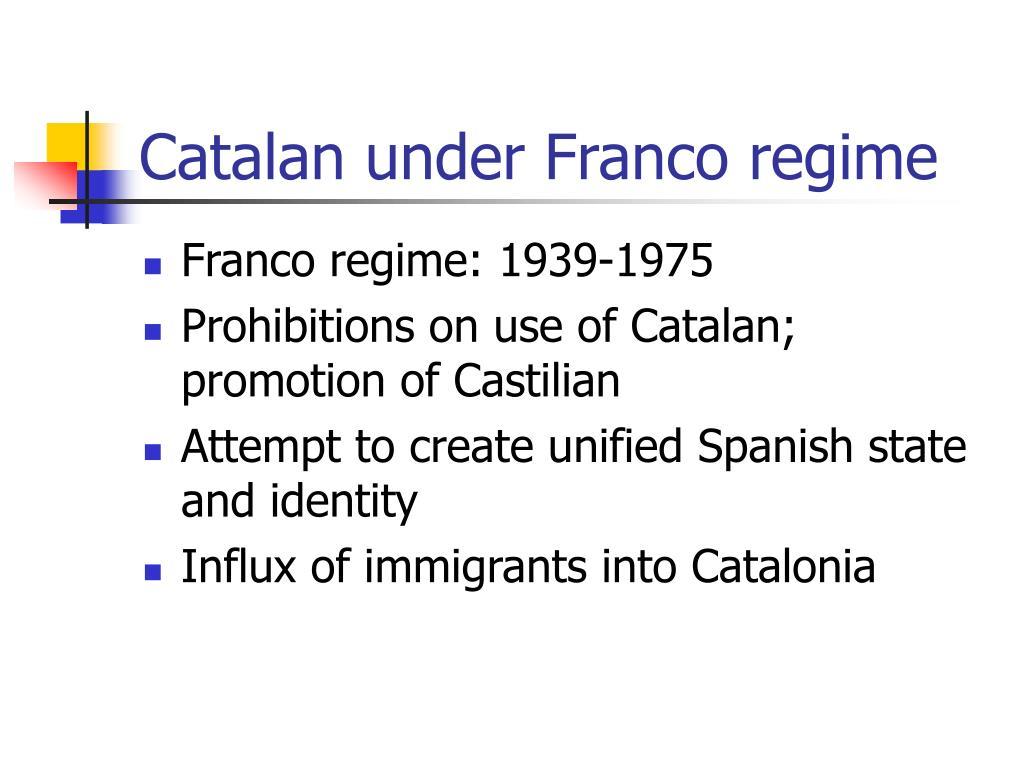 Catalan under Franco regime