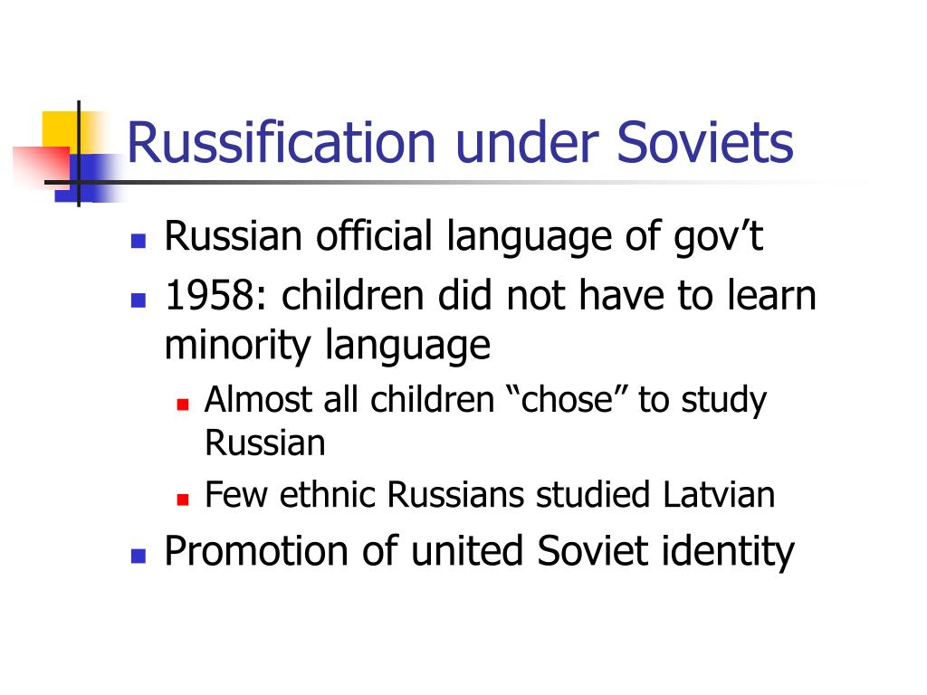 Russification under Soviets