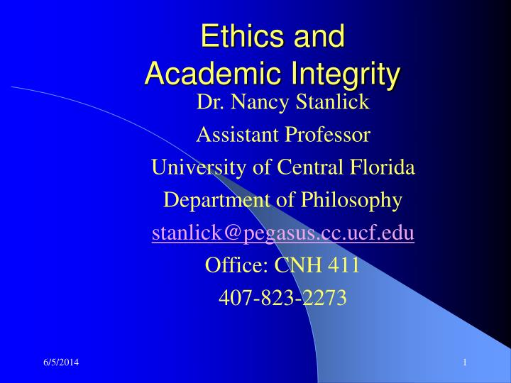 top ten academic and professional integrity Professional integrity then becomes a matter of the extent to which a person displays personal integrity in professional life halfon (1989, 53), for example, argues that types of integrity may overlap, 'so a person who is an artist by profession may come to possess professional and artistic integrity in virtue of performing one and the same action or.