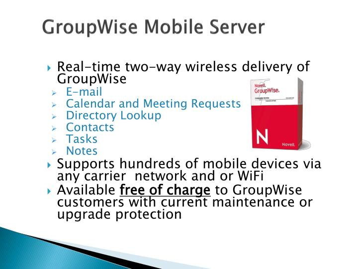 groupwise mobile server n.