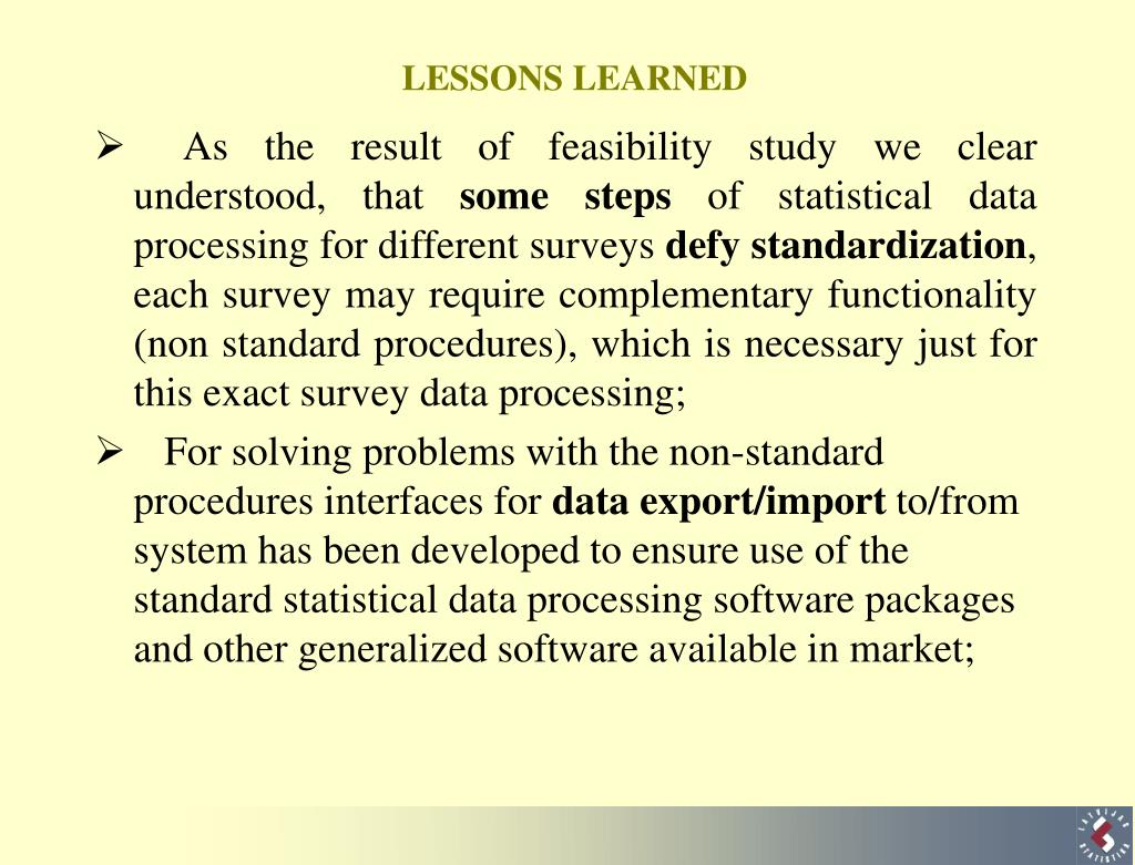 As the result of feasibility study we clear understood, that