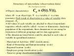 structure of microdata observation data bo sundgren model