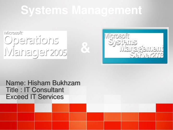 name hisham bukhzam title it consultant exceed it services n.
