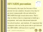hiv aids prevention