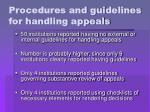 procedures and guidelines for handling appeals