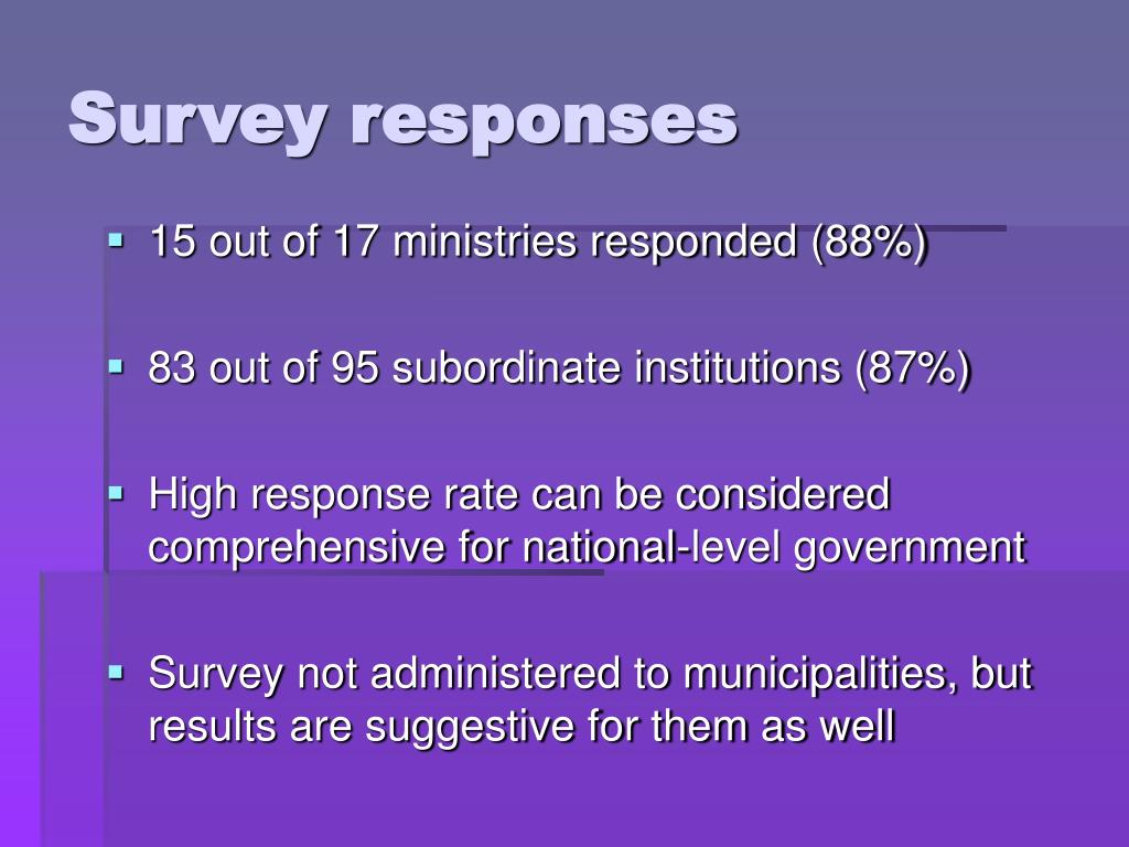 Survey responses