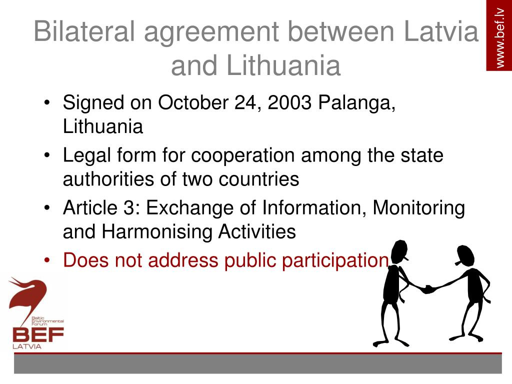 Bilateral agreement between Latvia and Lithuania
