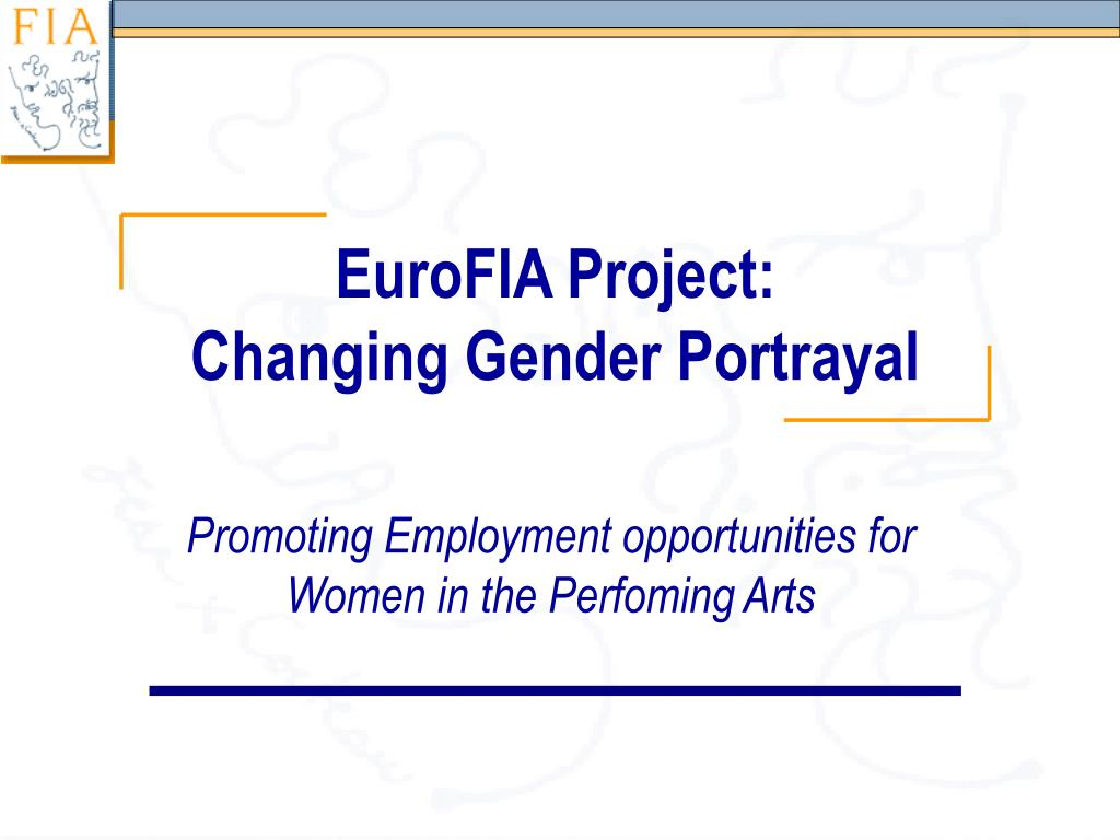 eurofia project changing gender portrayal l.