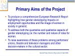 primary aims of the project