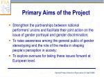primary aims of the project4