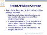 project activities overview