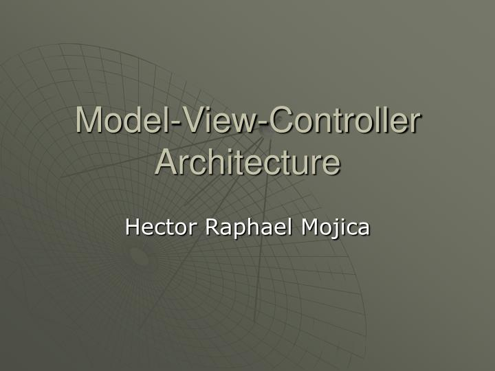 model view controller architecture n.