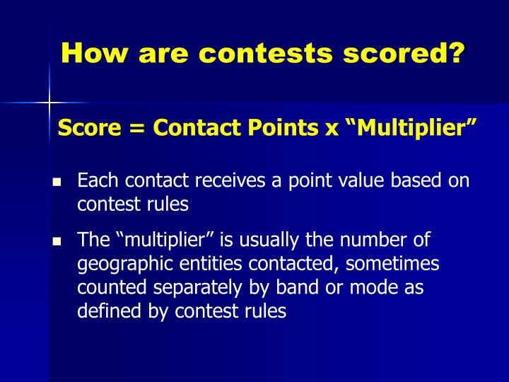 How are contests scored?