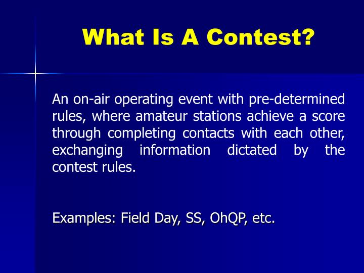 What is a contest