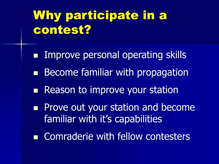 Why participate in a contest?