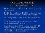 conclusions and reccomendations