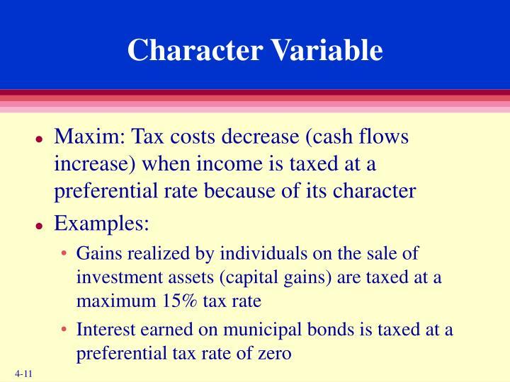 Character Variable