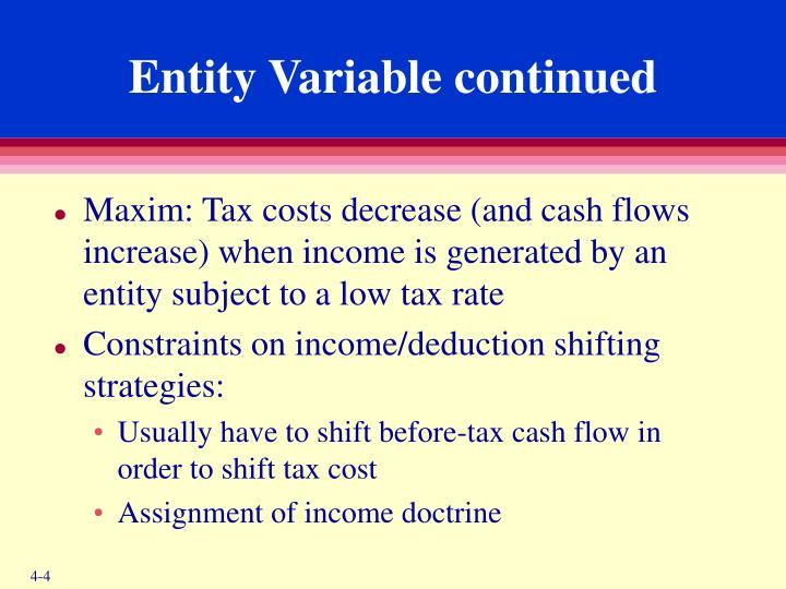 Entity Variable continued