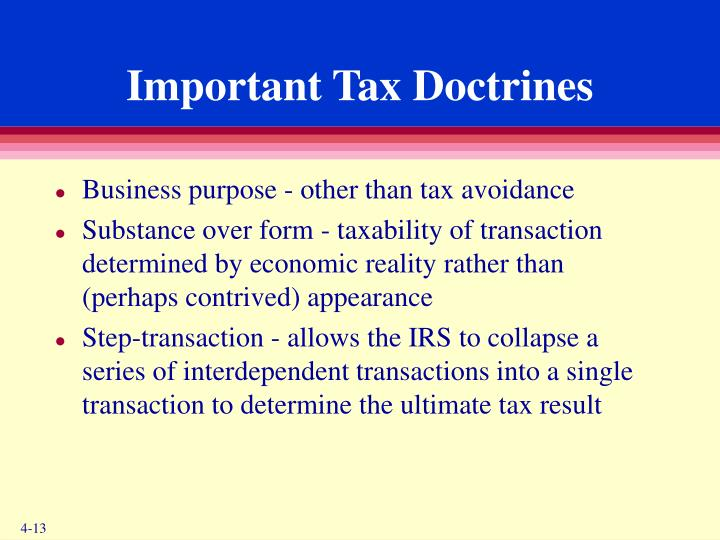 Important Tax Doctrines