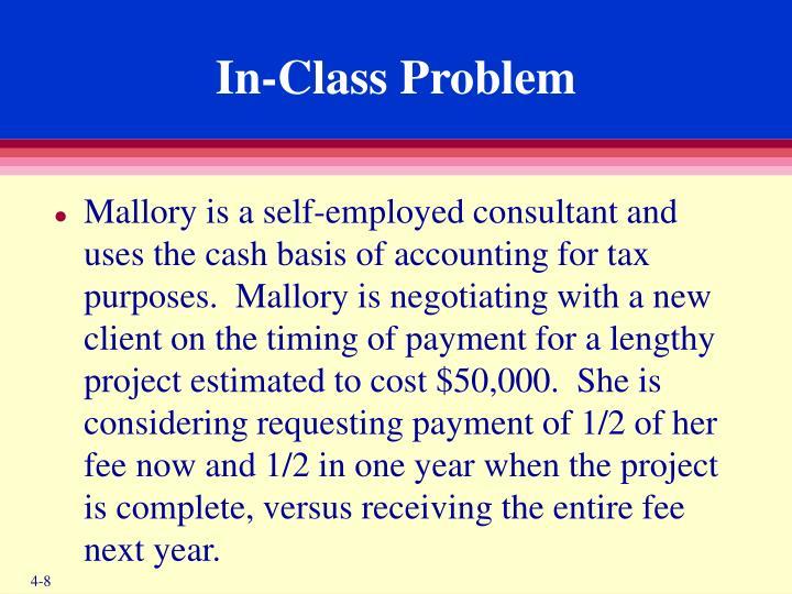 In-Class Problem