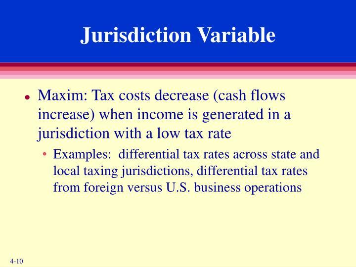 Jurisdiction Variable