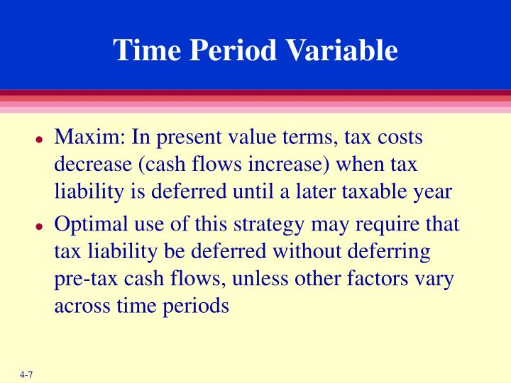 Time Period Variable