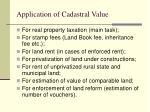 application of cadastral value
