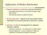 application of market information