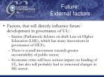 future external factors