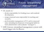 future streamlining management