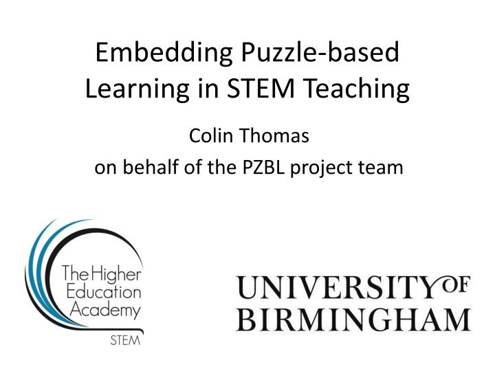 embedding puzzle based learning in stem teaching n.