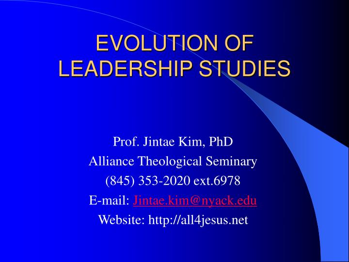 evolution of leadership studies n.
