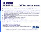faroarm p remium warranty