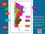 densidad y distribuci n regional de guanacos